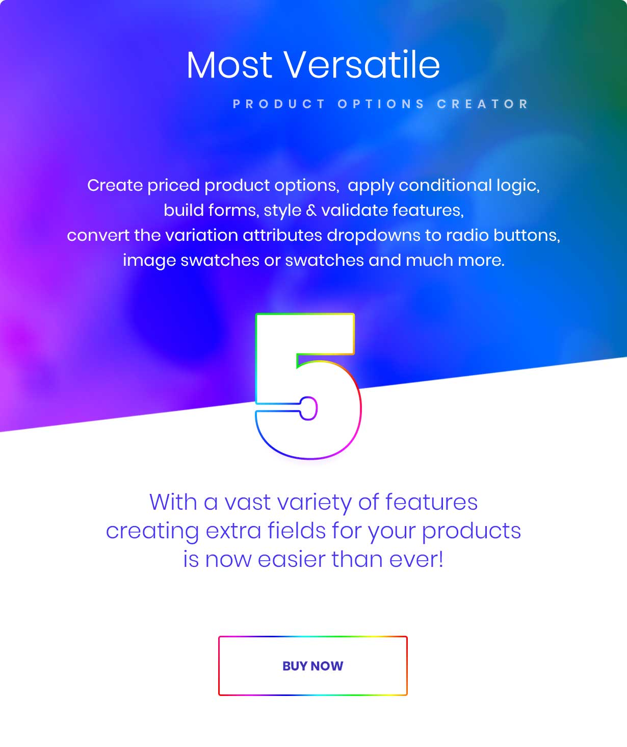 Most versatile options creator